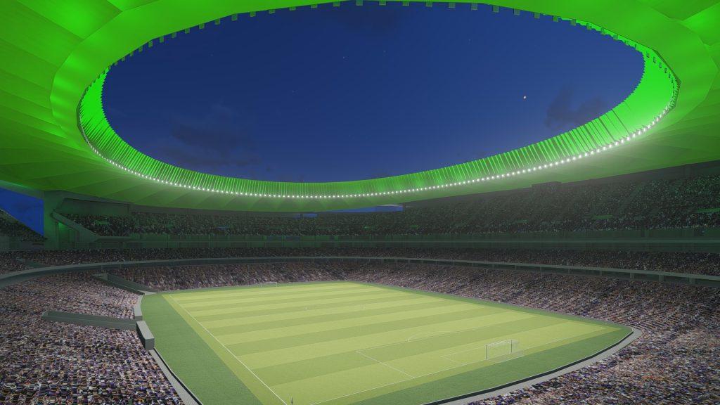 Atlético Madrid artist impression of the new stadium