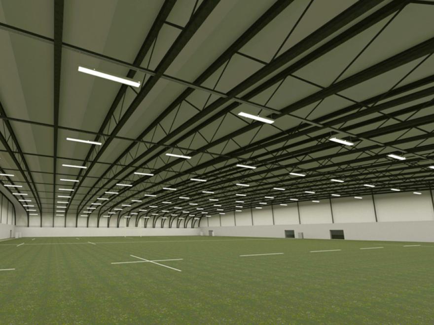 CGI impression of the indoor training facility. Courtesy: Bristol Rugby