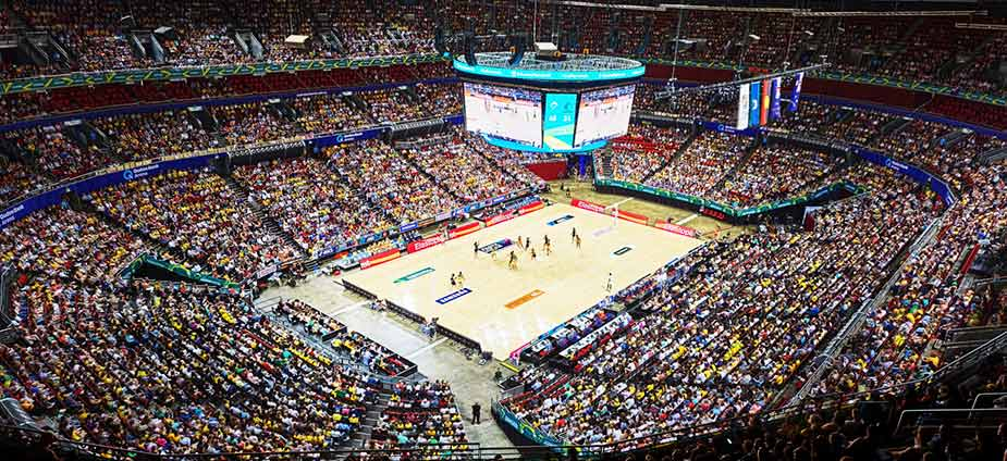 Qudos Bank Arena Has Partnered With Daktronics NASDAQ DAKT To Construct A 12 Display Centrehung LED Video System The Largest In Southern