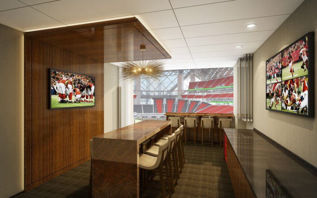 Flying high journey through mercedes benz stadium for Mercedes benz stadium suite prices