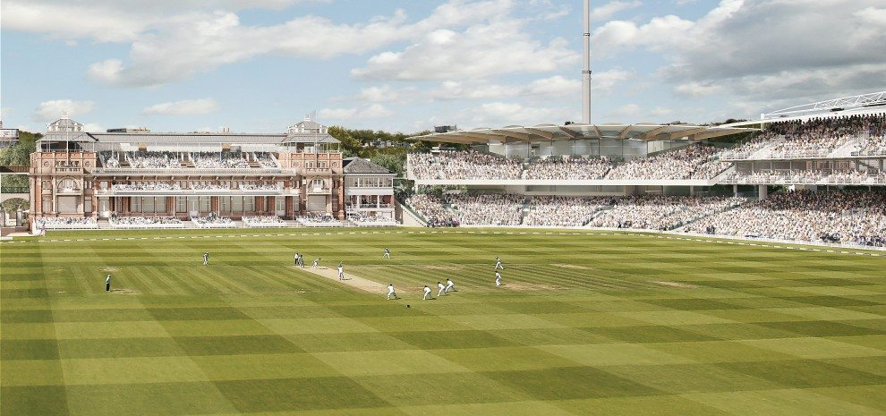 Exhibition Stand Design Jobs London : First roof beam installed on lord s new warner stand