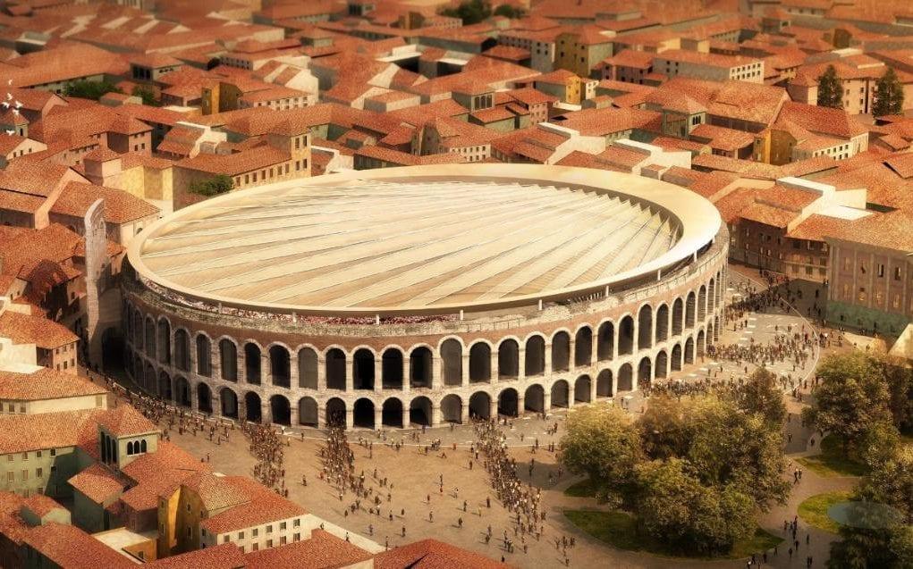 Verona S Roman Amphitheatre To Sport A Retractable Roof