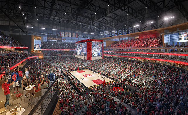 Renovation gets underway on hawks 39 philips arena as new for Construction suite online