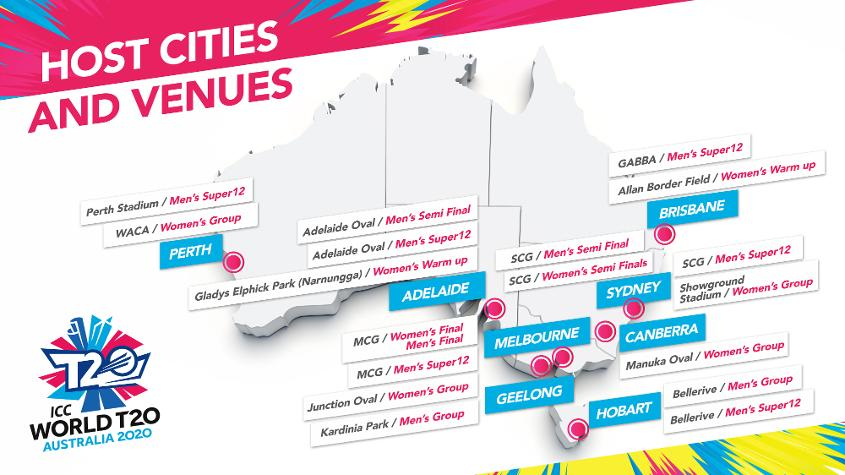 Eight cities throughout Australia to host ICC World T20 ...