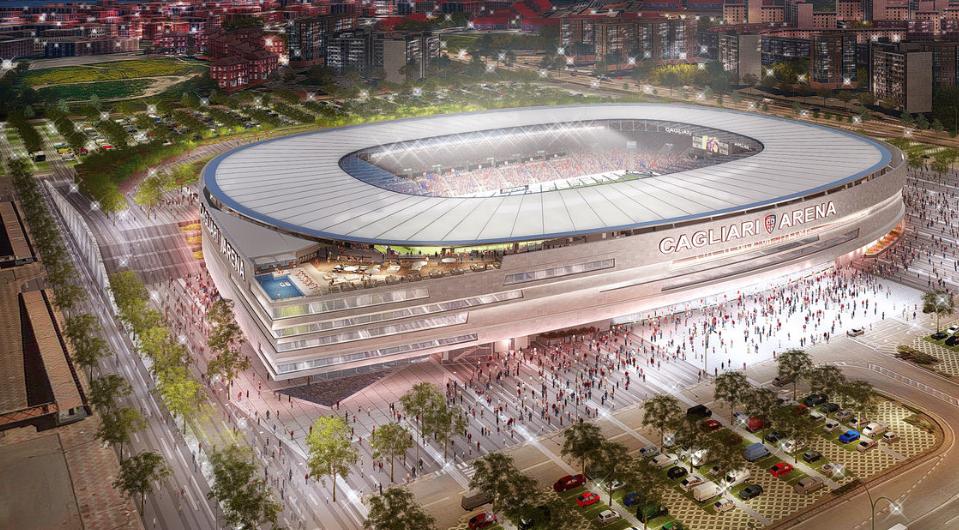 Cagliari Calcio Unveils Winning Design For Their New Stadium