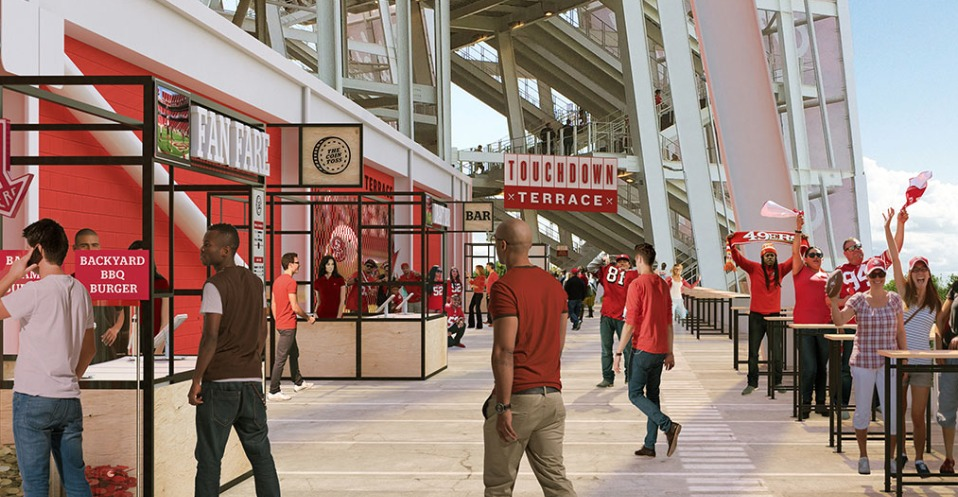 San Francisco 49ers And Levy Unveil The Newest F Amp B
