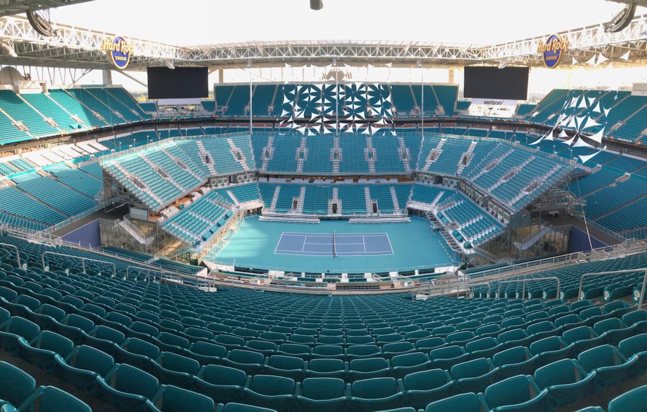 Hard Rock Stadium transforms into premier tennis venue for