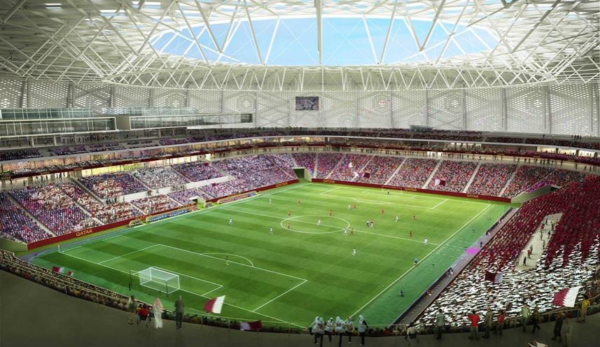 Concrete works completed at Qatar 2022's Al Thumama Stadium