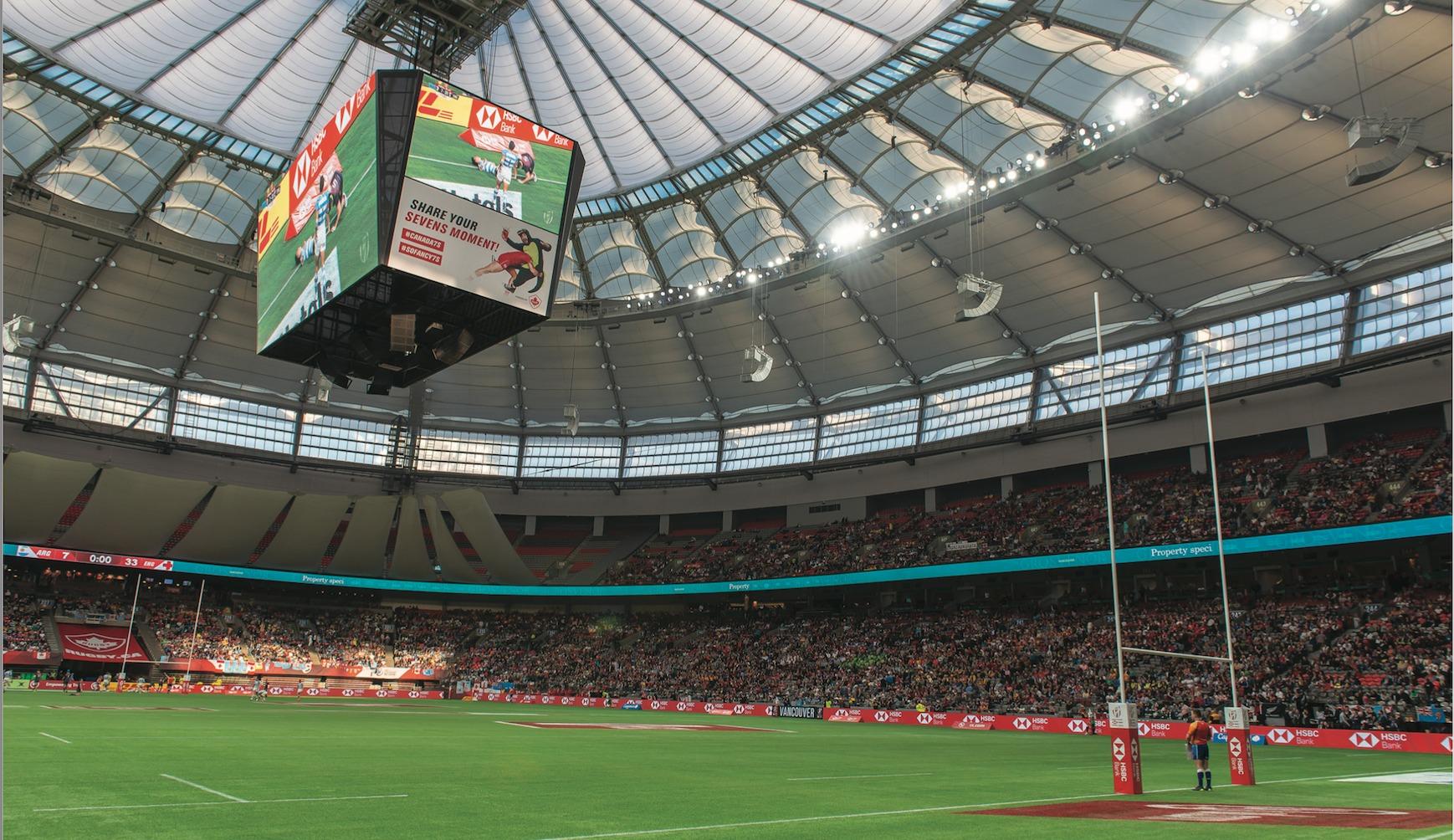 Bc Place Stadium Unveils New World Cl Energy Efficient