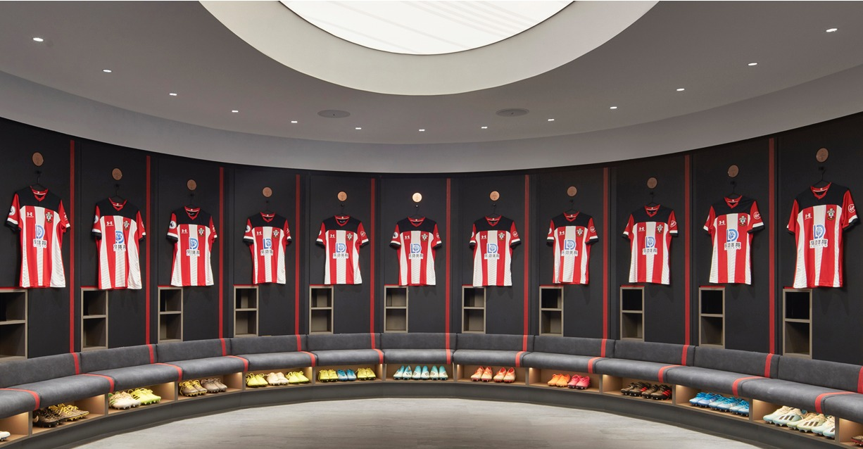 New Home Team Dressing Room For Southampton Fc Unveiled At