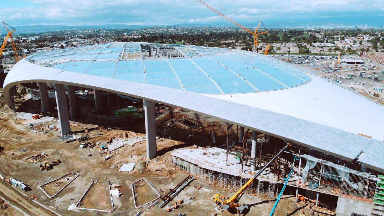 Video The Field Level At Los Angeles Rams New Sofi Stadium Sports Venue Business Svb