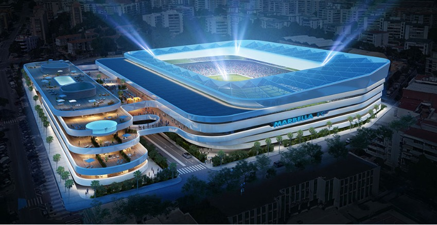 Marbella Fc Presents Plans For A Brand New State Of The Art Stadium Sports Venue Business Svb
